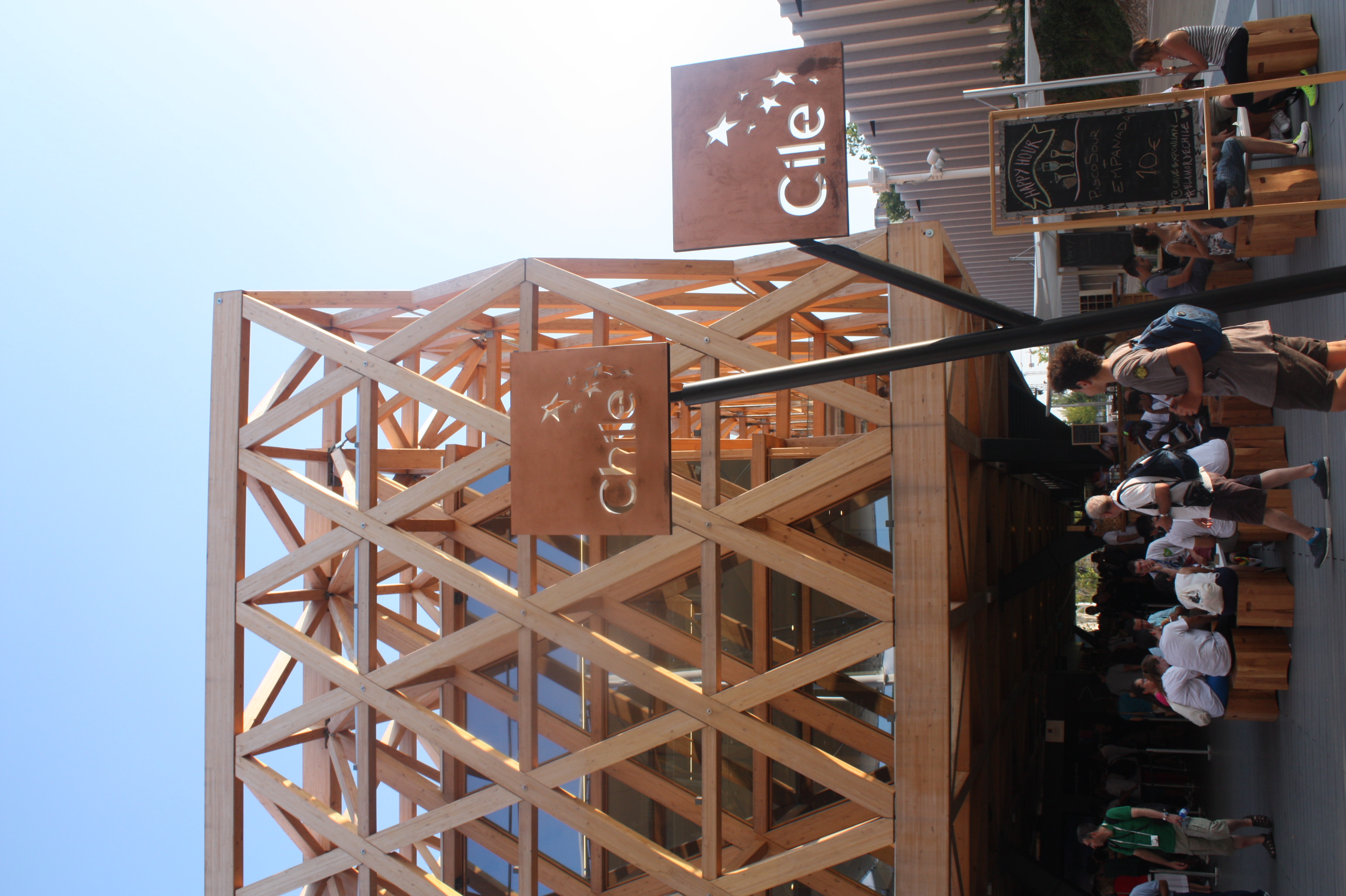 all wood architecture at Chile's pavillon