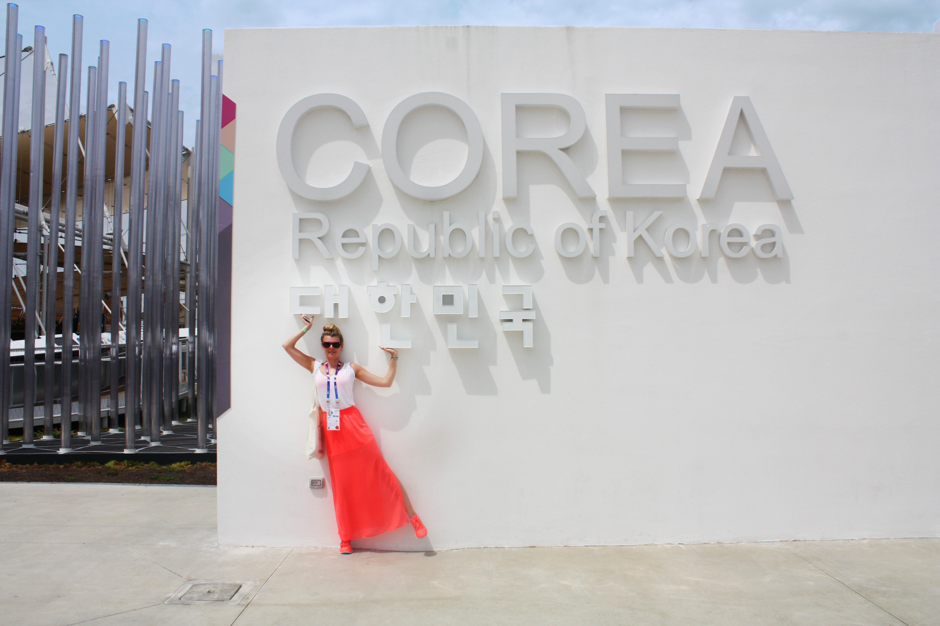 In front of the corean pavillon