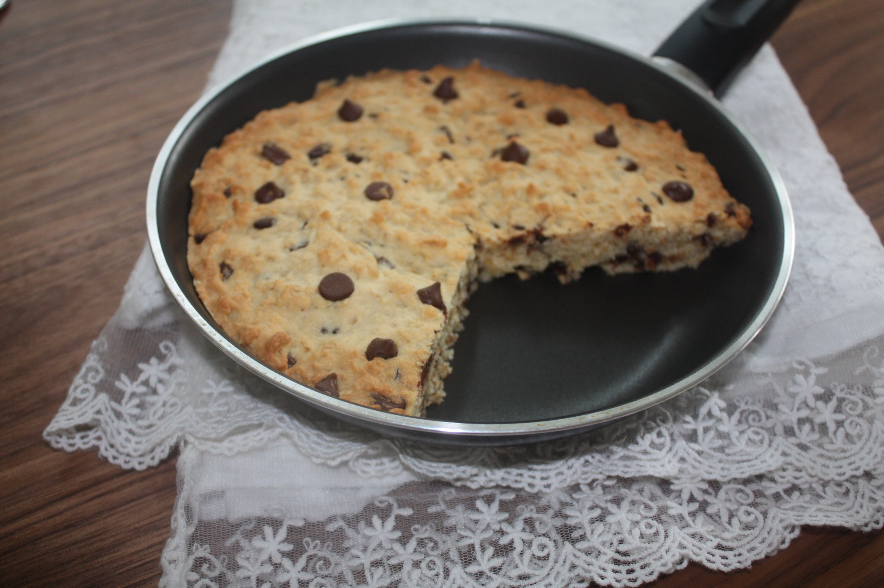Vegan Skillet Chocolate Chip Cookie