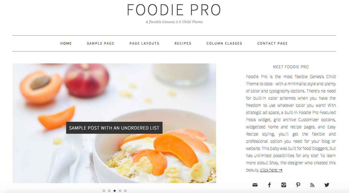 Why foodie pro is the best theme for every food blogger foodie pro theme forumfinder Gallery