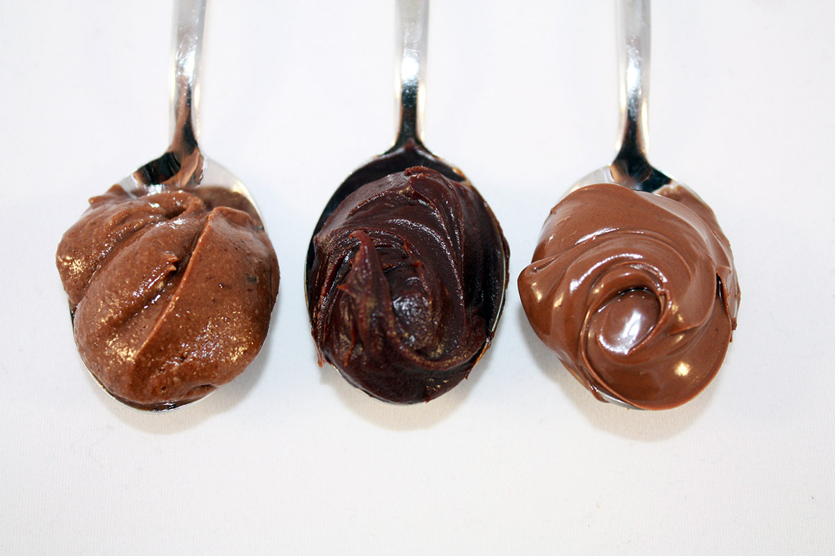 3 kinds of vegan Nutella