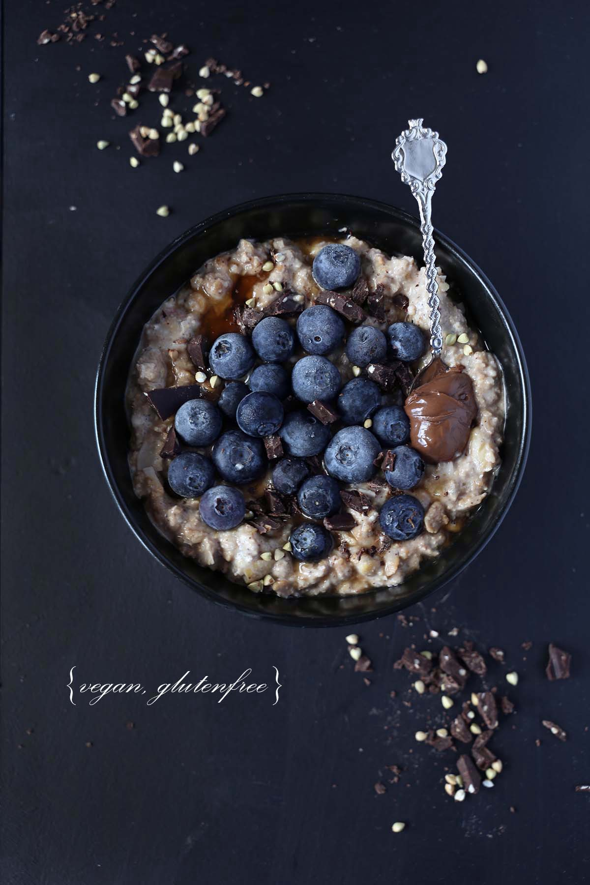 Super creamy chocolate oatmeal {vg, gf, sugarfree}