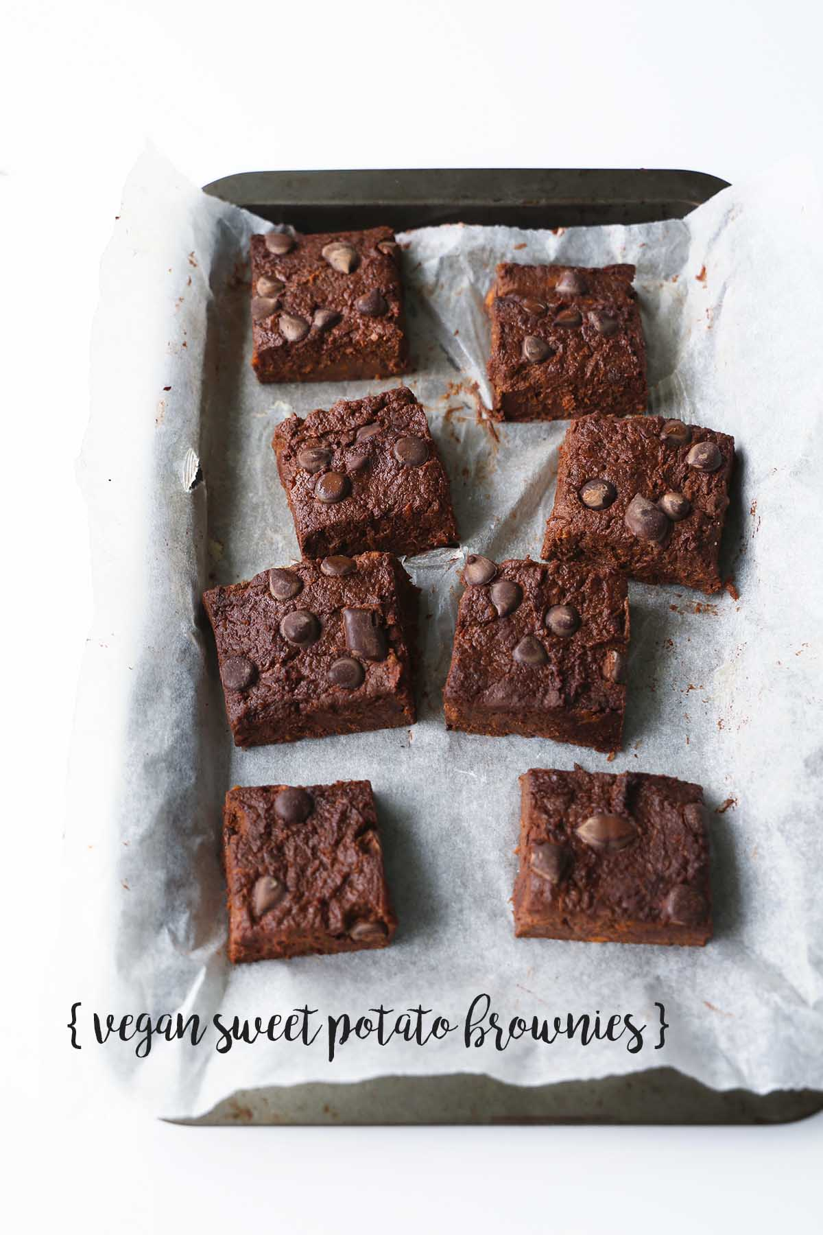 10 minutes low-fat vegan sweet potato brownies