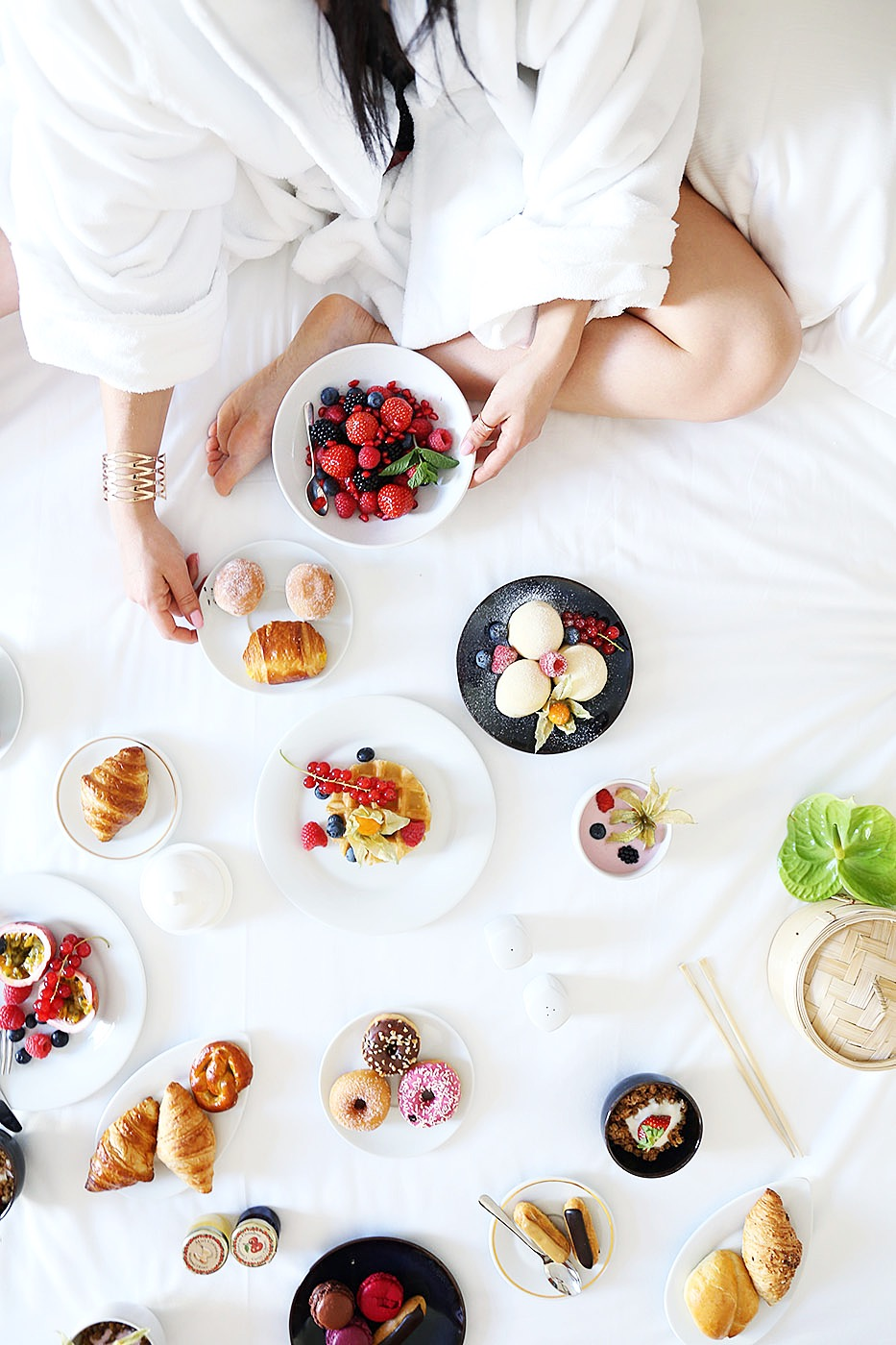 Breakfast in bed at KEMPINSKI GRAND HÔTEL DES BAINS - ST. MORITZ