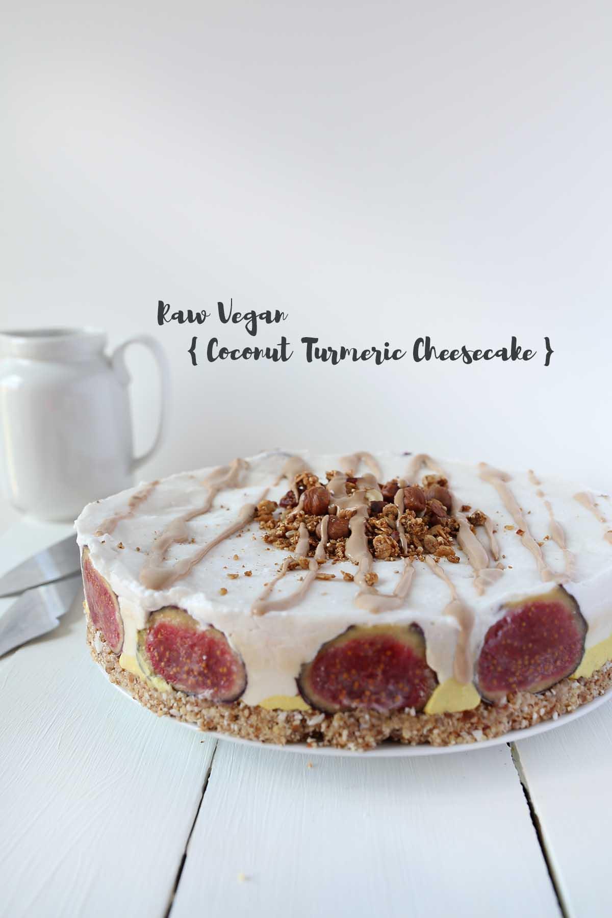 Raw Vegan Coconut Turmeric Cheesecake