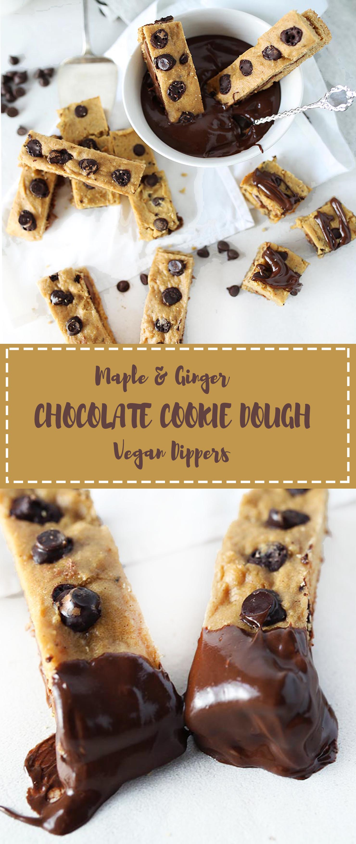 Maple Ginger Chocolate Chip Cookie Dippers
