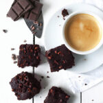 One bowl vegan dark chocolate espresso brownies