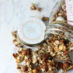 Crunchy Vegan Gingerbread Granola {grain-free}