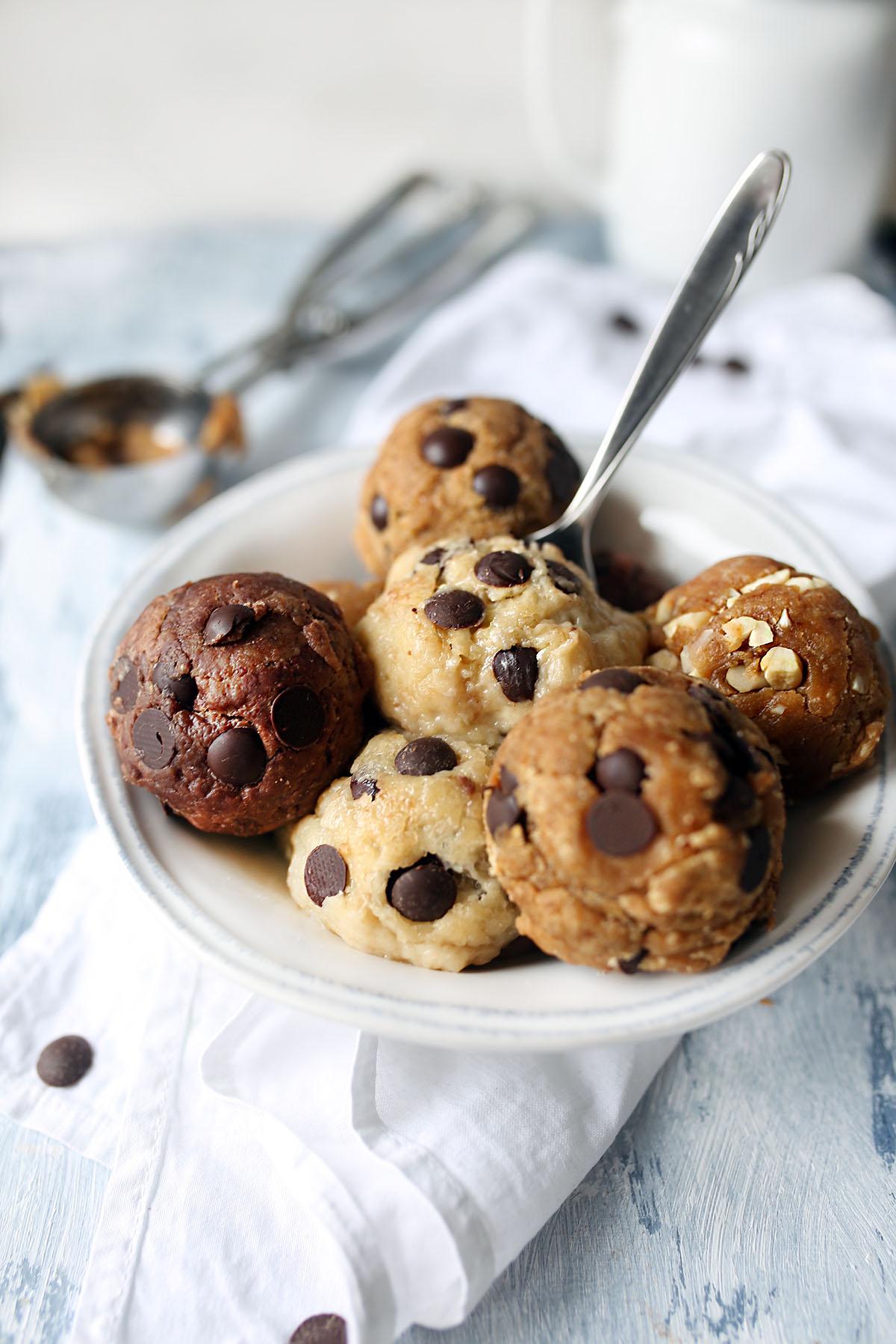 "3 kinds of Vegan Cookie Dough ""Ice cream"""