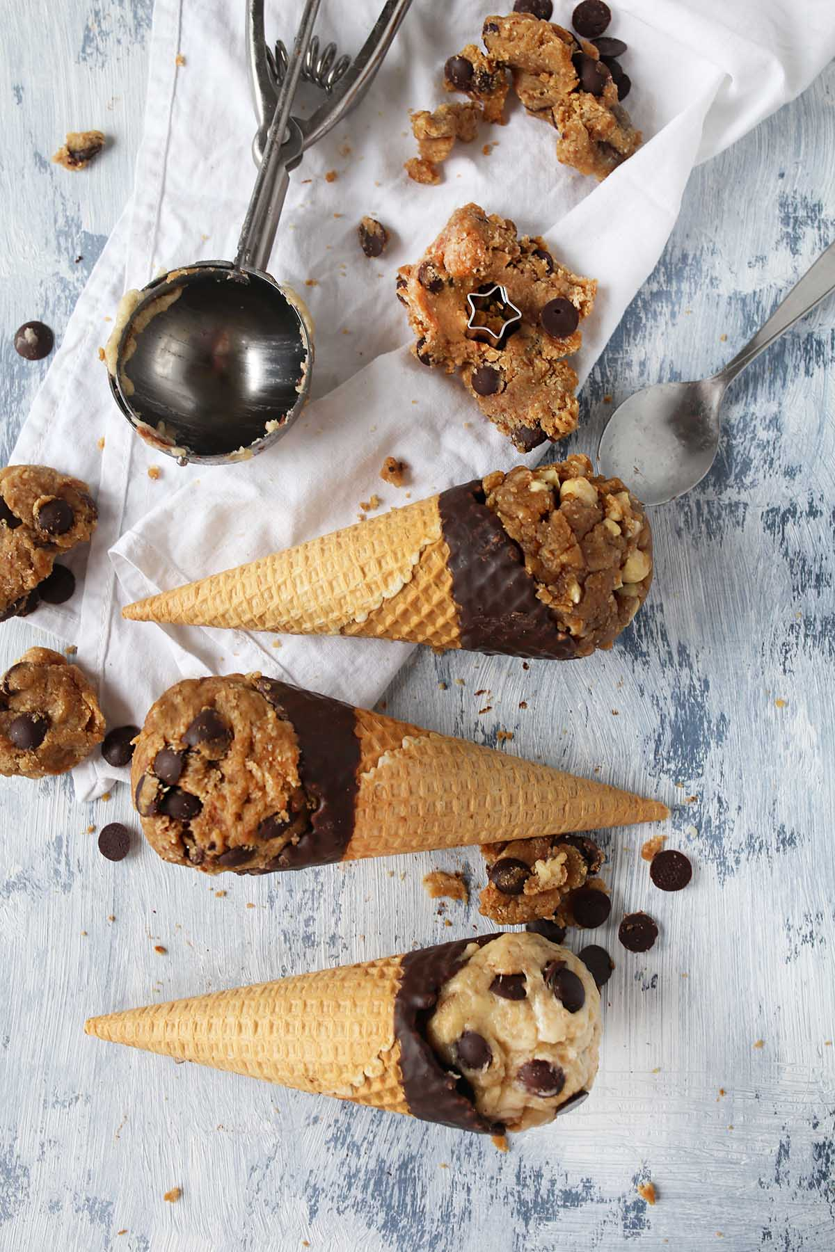 "3 kinds of Vegan Cookie Dough ""Ice cream"""