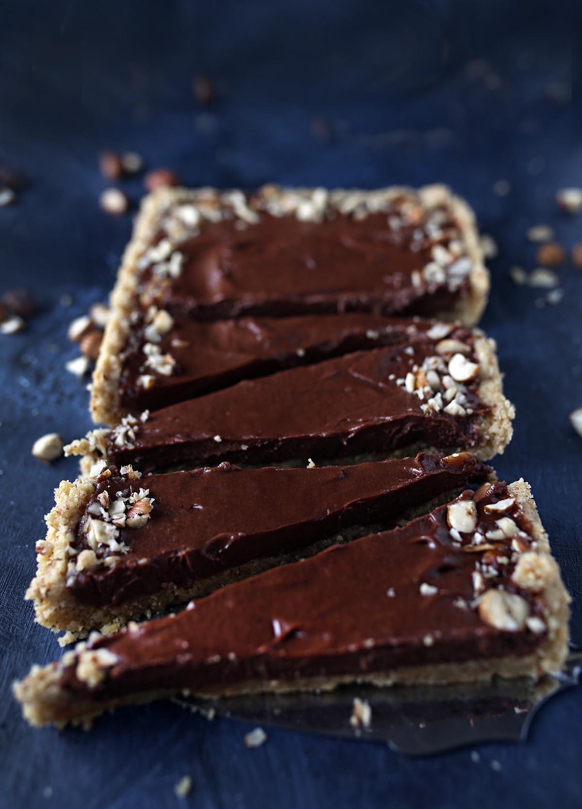 Gluten-free, Vegan Nutella Tart