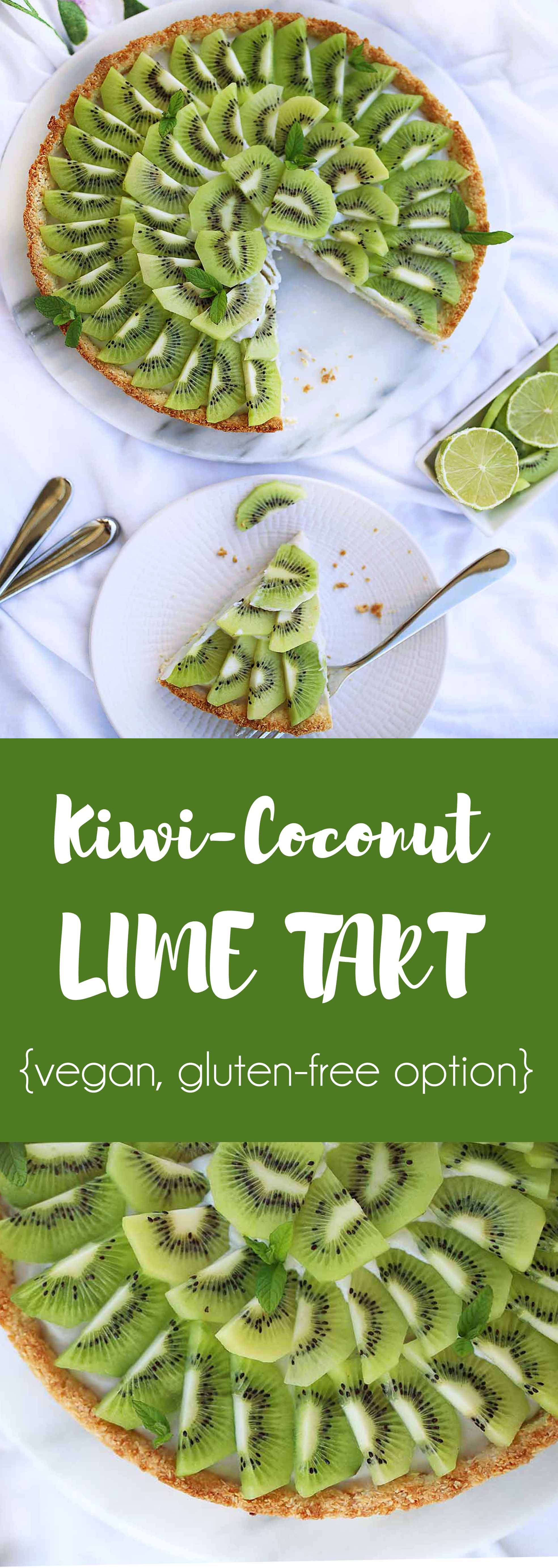 Refreshing Kiwi-Coconut Tart