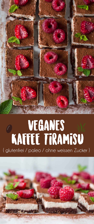 Veganes Kaffee Tiramisu {glutenfrei, paleo, ohne weissen Zucker}