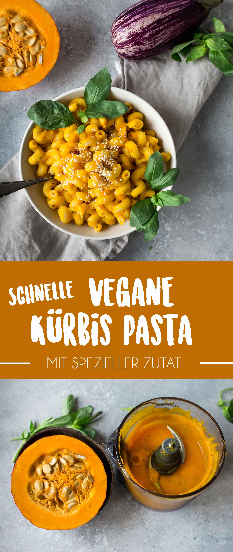 Schnelle Vegane Kürbis Pasta