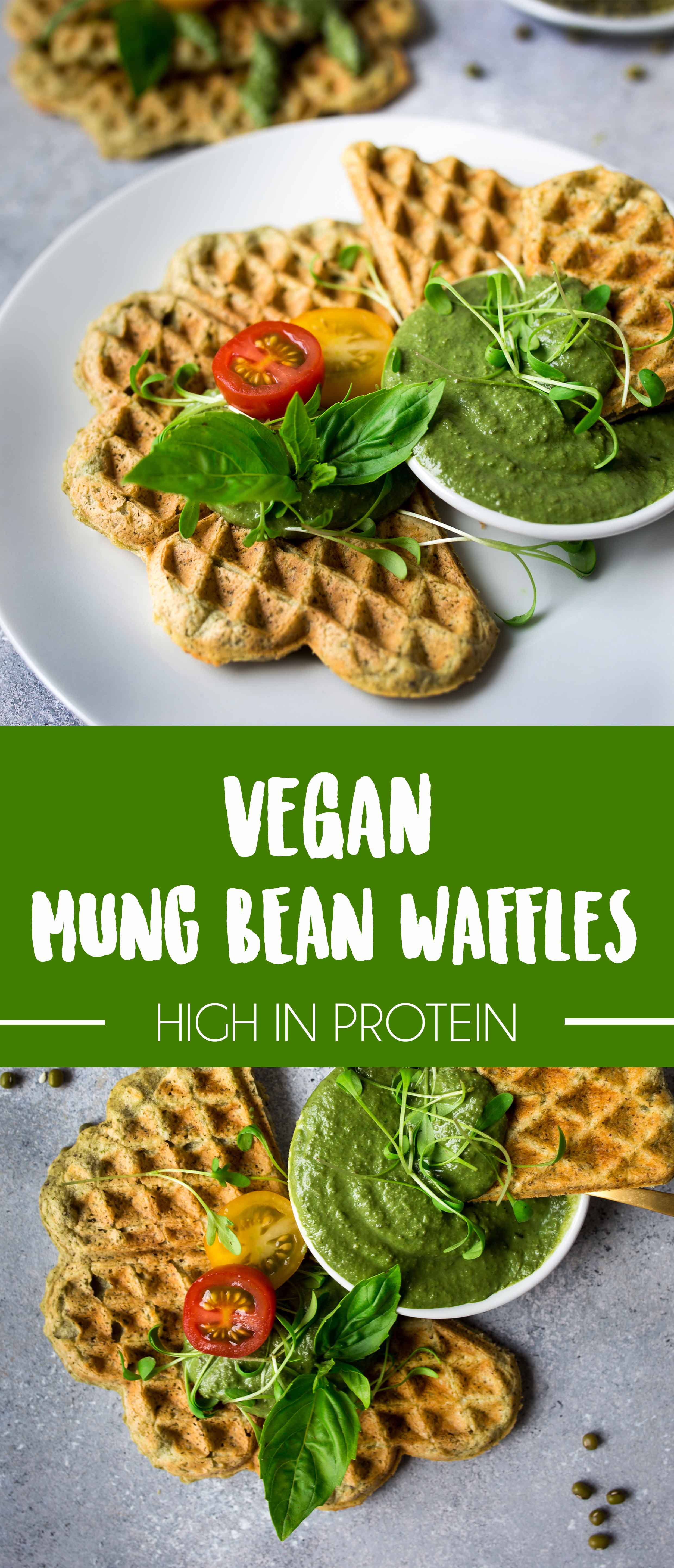Savory Mungbean Waffles {high in protein}