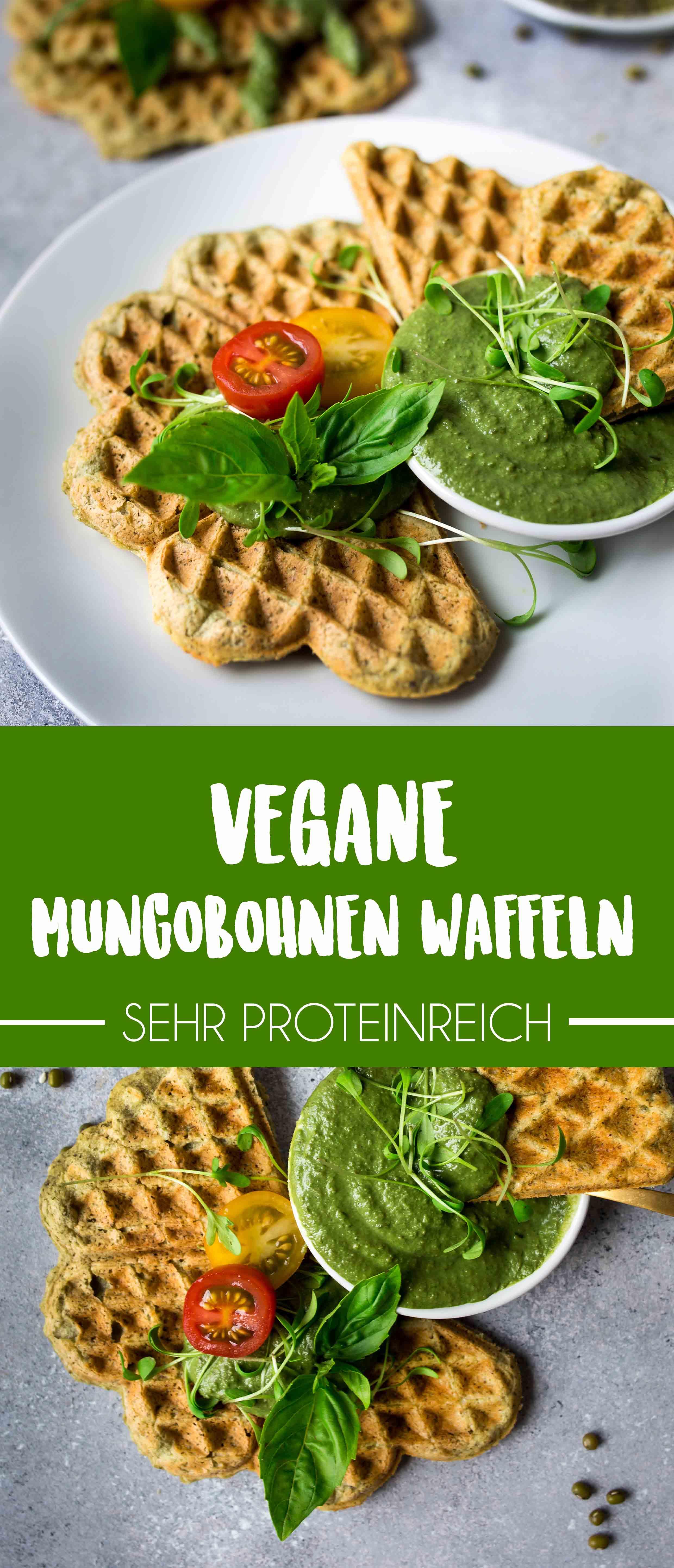 Einfache proteinreiche Mungobohnen Waffeln {vegan und gluten-frei}