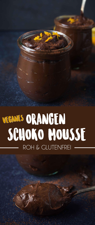 Roh Veganes Schokoladen Orangen Mousse