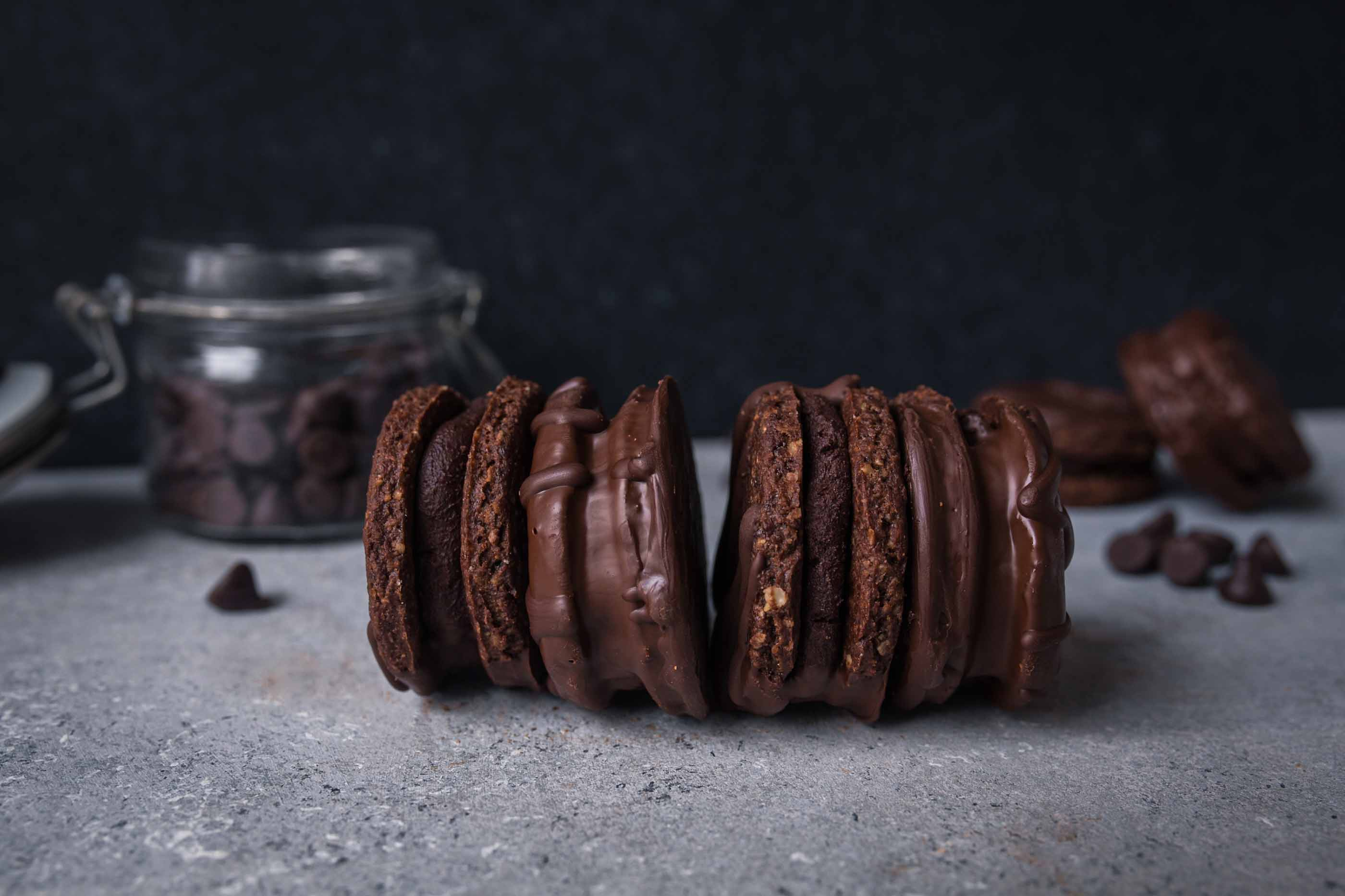 Vegan Double Chocolate Hazelnut Cookies