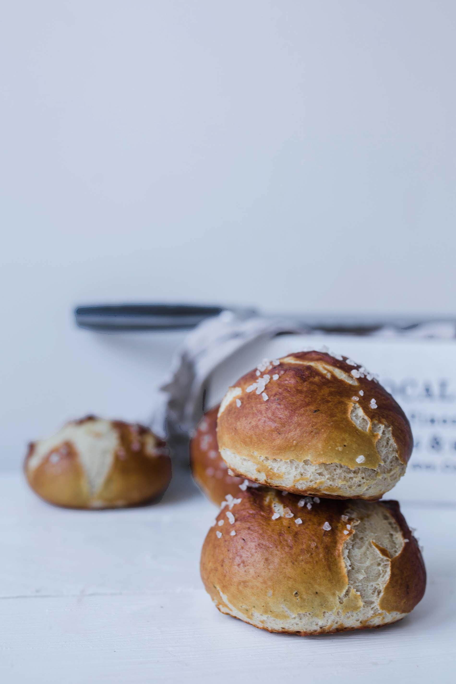 Soft Pretzel Rolls { Vegan with just 5 ingredients}