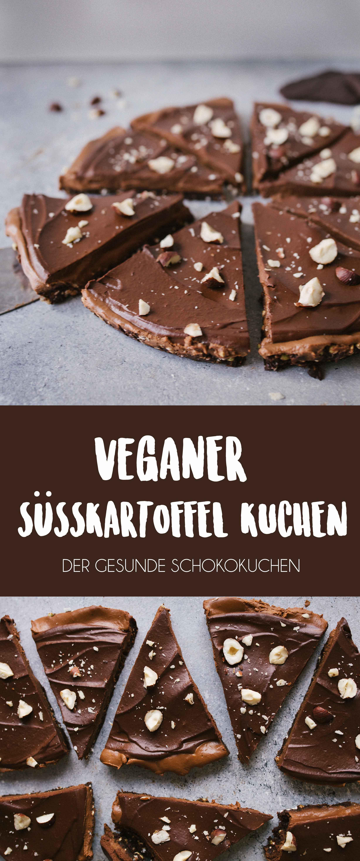 Veganer Süsskartoffel Schokoladenkuchen