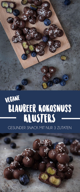 Blaubeer-Schokoladen Klusters {Der gesunde, schnelle Minisnack}