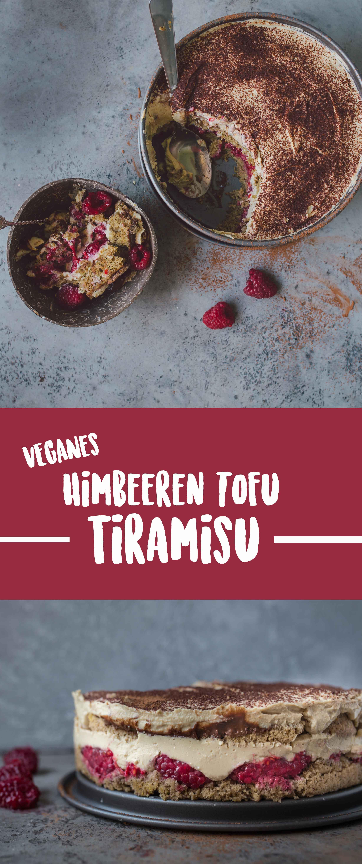 Leichtes Himbeer Tofu Tiramisu