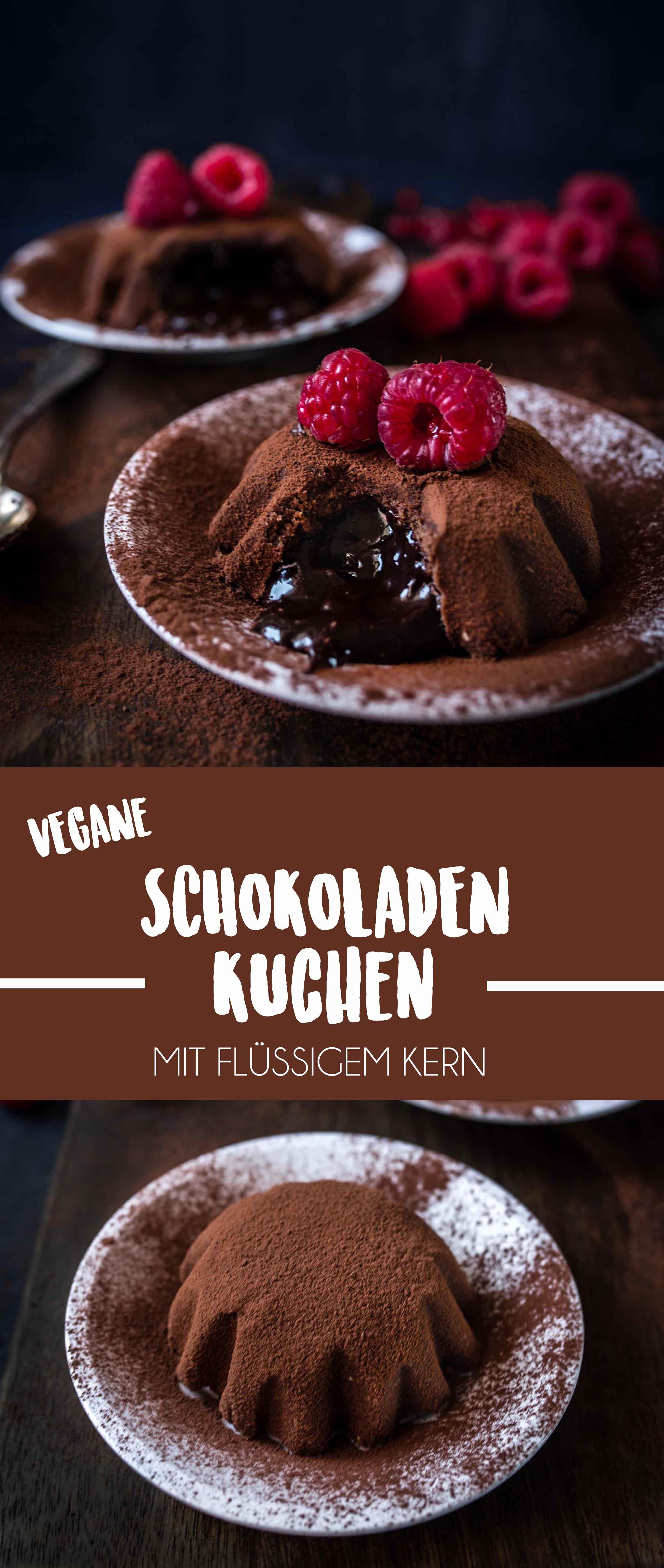 Vegan Chocolate Cakes with a luscious liquid center