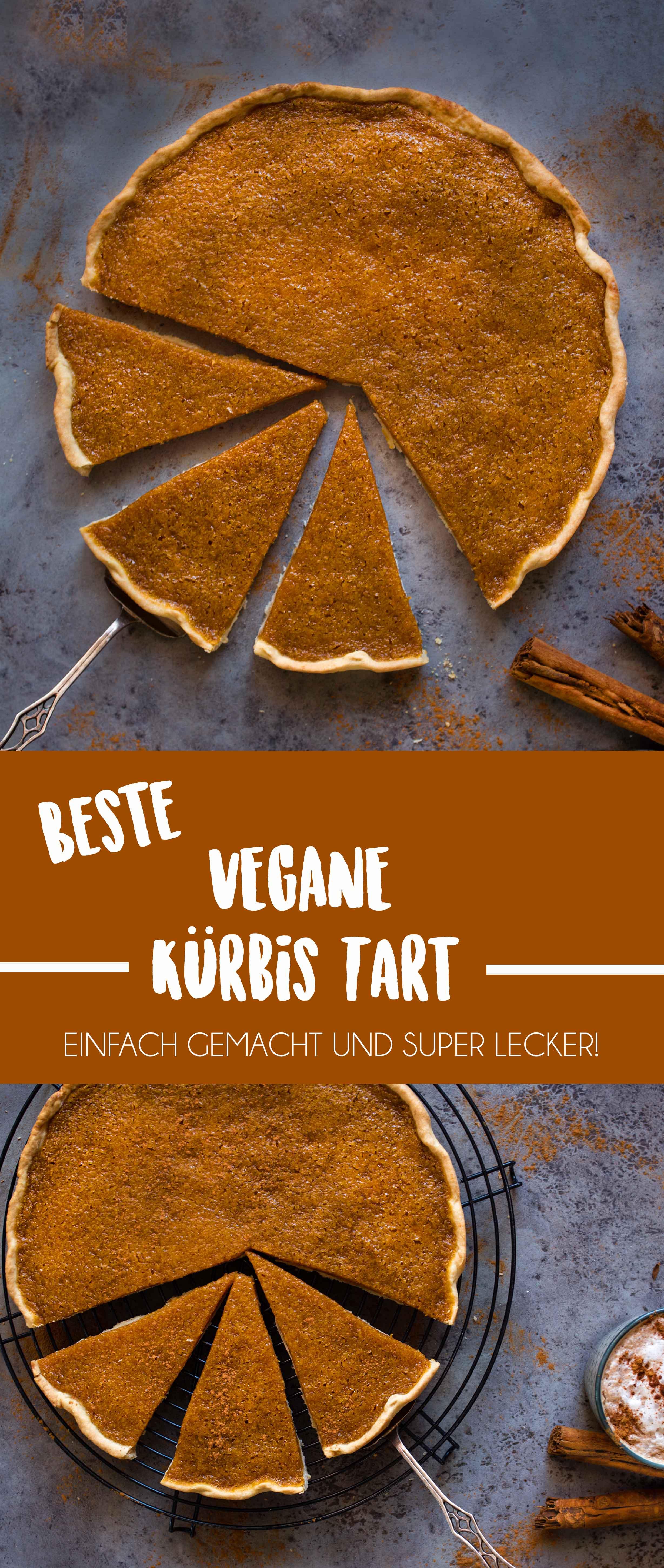 Herbstlich einfache Vegane Kürbis Tarte