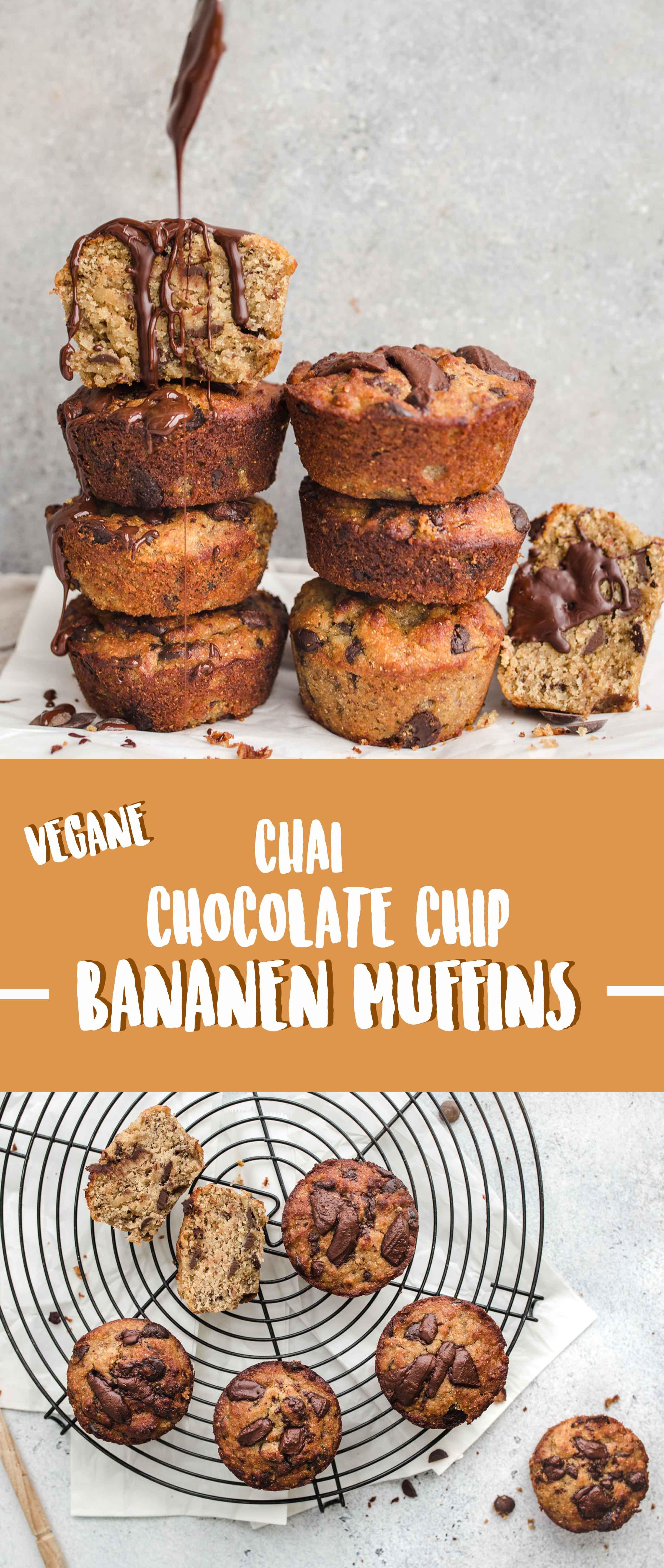 Chai Chocolate Chip Banana Muffin