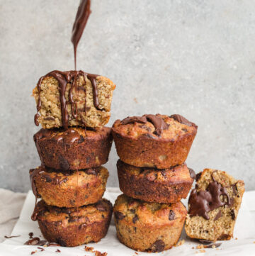 Chocolate Chip Chai Infused Banana Muffins
