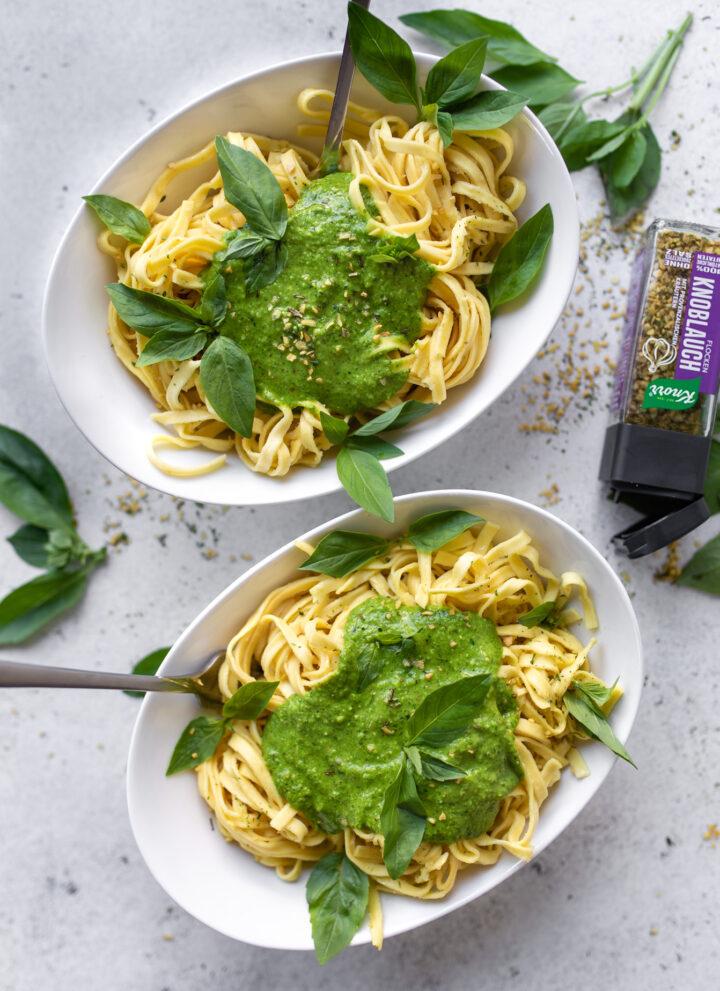 Würzige vegane Pestosauce - Kinderleicht und schnell gemacht