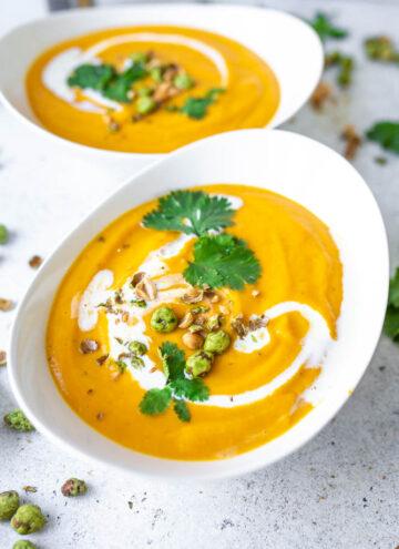 Kalte Süsskartoffel-Melonen Suppe