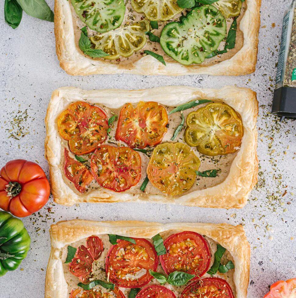 Sommerliches Aperogebäck - Tomatentarte mit Tofufüllung