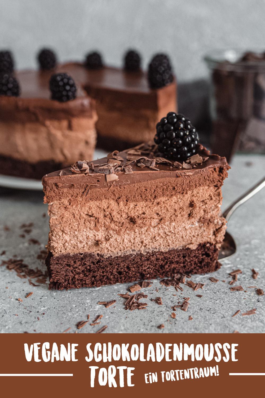 Vegane Schokoladen Mousse Torte