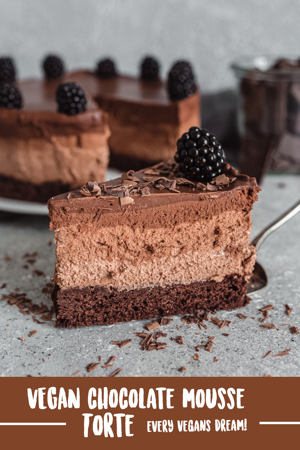 Vegan Chocolate Mousse Torte