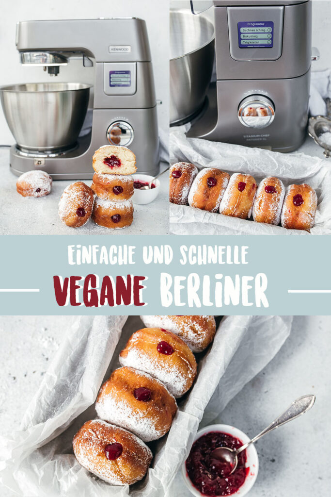 Vegane Berliner - einfach gemacht ohne Fritteuse